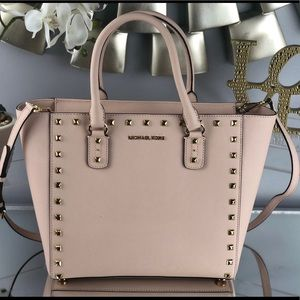 Michael Kors Sandarine Stud Large Shoulder Tote